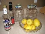 homemade lemon liquere
