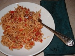 Skillet Vermicelli with Meat Sauce