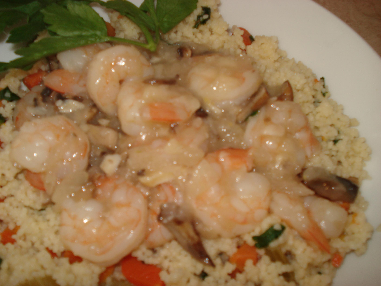 Limoncello Shrimp and Cous Cous
